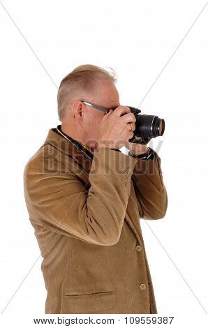 Middle Age Man Taking Pictures.