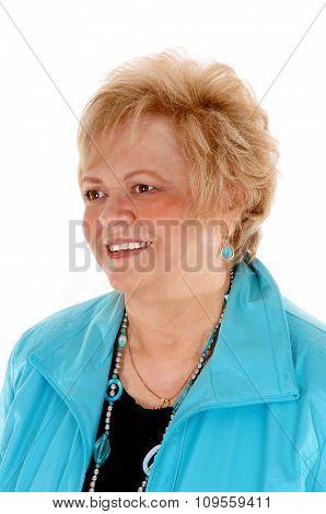 Portrait Of A Blond Older Woman.