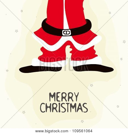 Creative illustration of Santa Claus Body for Merry Christmas celebration.