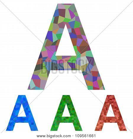 Mosaic font design - letter A