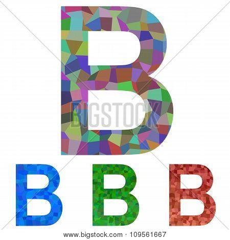 Mosaic font design - letter B