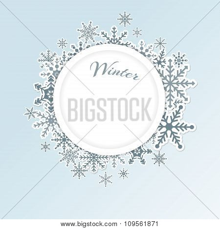 Winter circle background