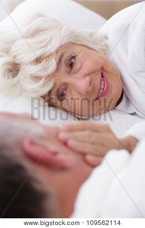 Romantic Senior Woman With Partner