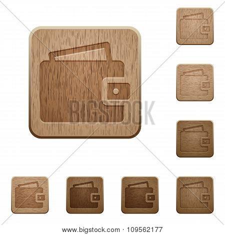 Wallet Wooden Buttons