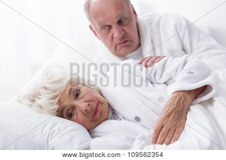 Ill Woman And Caring Partner
