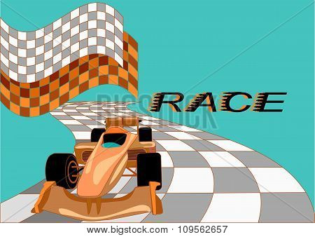 Race Background With Car
