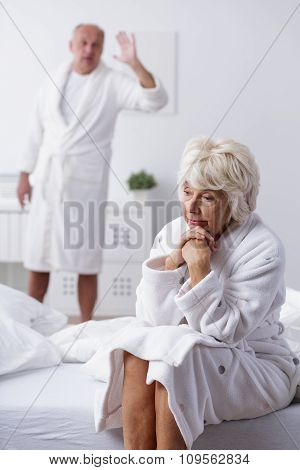 Unhappy Mature Married Couple
