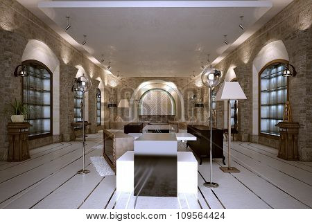 Shop Interior Art-deco Style