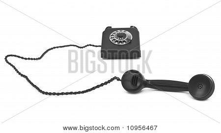 Bakelite Telephone On White