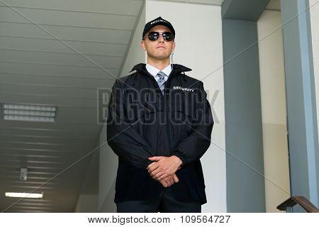 Confident Security Guard