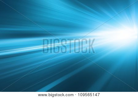 Abstract toned image of speed motion in a tunnel.