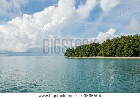Island With Trees At Phang Nga Bay Near Krabi And Phuket
