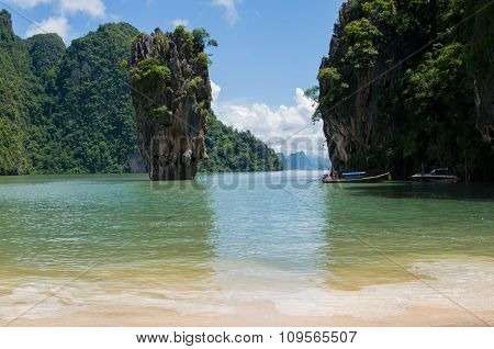Tapu Island At Phang Nga Bay Near Krabi And Phuket (james Bond Island)