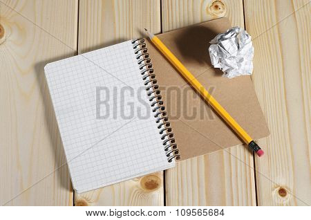 Notepad With A Pencil