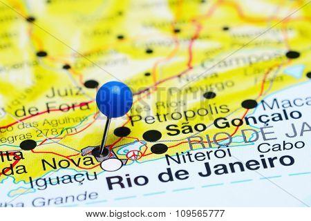Nova pinned on a map of Brazil