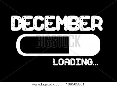 Progress Bar Loading with the text: December