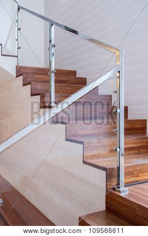 Modern Stairs Made Of Wood