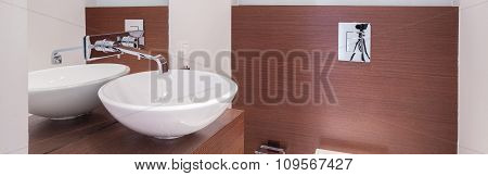 Round White Washbasin