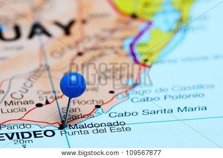 Maldonado pinned on a map of America