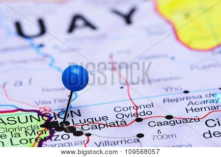 Luque pinned on a map of America