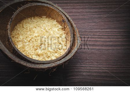 Brown Rice In Coconut