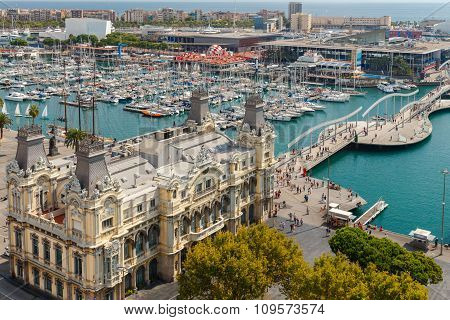 Barcelona. The Building Of The Port.