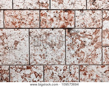 Wall Built Of Natural Stone. Can Be Used As Background. Great Background Or Texture.