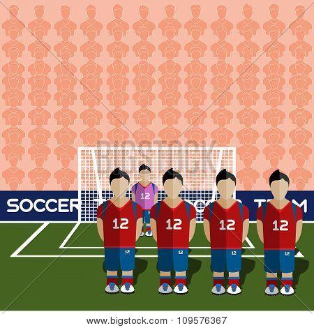 South Korea Soccer Club On A Stadium