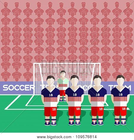 Usa Soccer Club On A Stadium