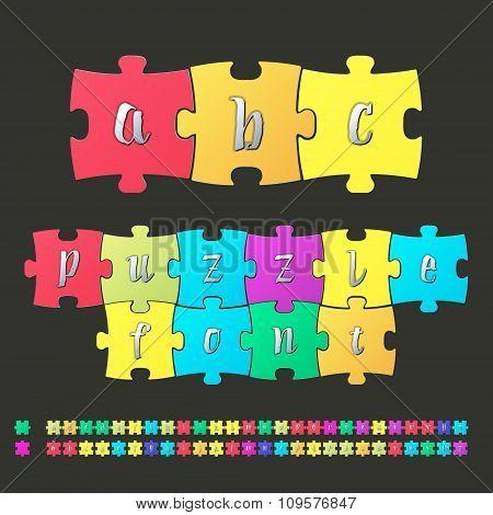 Colored alphabet puzzle