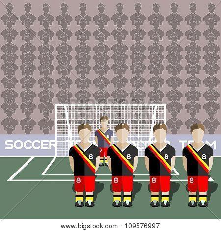 Belgium Soccer Club On A Stadium