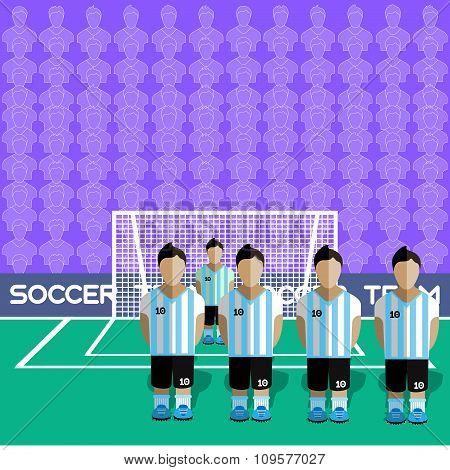 Argentina Soccer Club On A Stadium