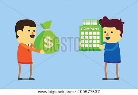 Buy business with money