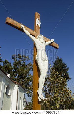 Figure Of Jesus Crucified On The Cross