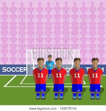 Chile Soccer Club On A Stadium