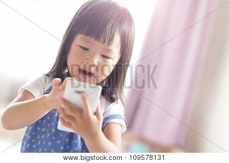 Happy Girl With Smart Phone