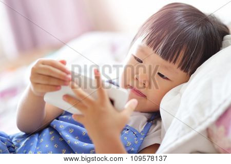 Happy Girl With Smart Phone