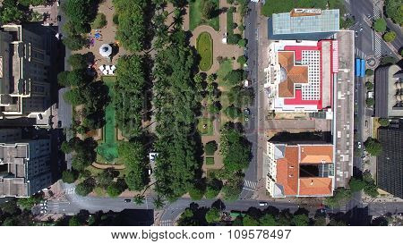 Aerial view from Liberty Square, Belo Horizonte, Minas Gerais, Brazil.