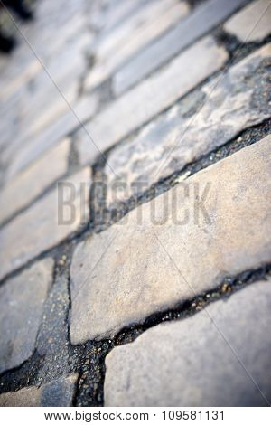 Stone floor background in Paris, France.