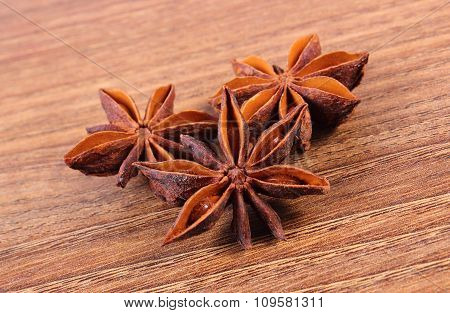 Star Anise Spice On Wooden Table