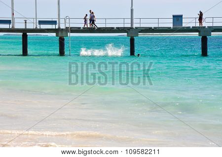 Splash off the Jetty: Jurien Bay