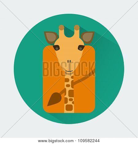 Giraffe Baby Animal Icon
