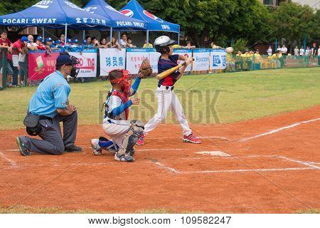 Zhongshan Panda Cup, Zhongshan, Guangdong - July 23:batter Of Team Wenzhou Xintianyuan Primary Schoo