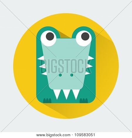 Crocodile Baby Animal Icon