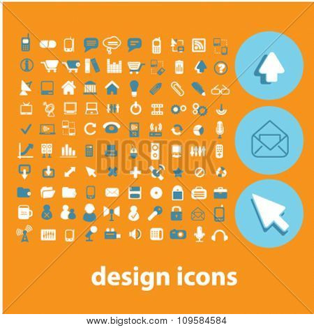 design icons, signs vector concept set for infographics, mobile, website, application