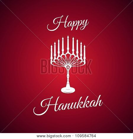 Beautiful lettering calligraphy elegant white text Design. Calligraphy inscription Happy Hanukkah ca