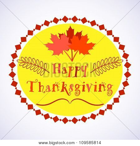 Happy Thanksgiving Day holiday background with beautiful colorful autumn maple leaves, can be use as
