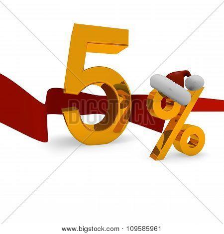 5 Percent Christmas Discount