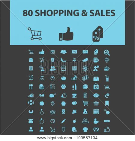 shop, store, shopping, retail, sales  icons, signs vector concept set for infographics, mobile, website, application