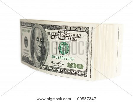 stack of hundred-dollar bills
